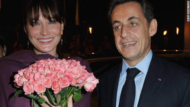 French President Nicolas Sarkozy and first lady Carla Bruni welcomed a daughter into the world on Wednesday.