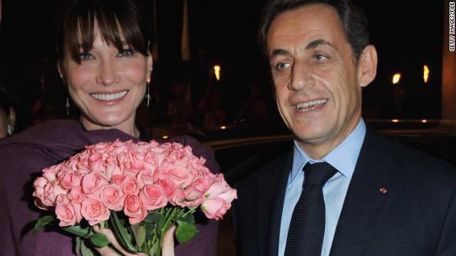 El presidente de Francia Nicolas Sarkozy y Carla Bruni tuvieron una niña