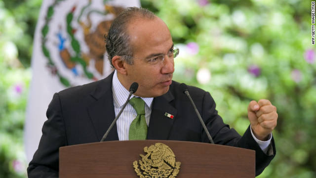 Mexican President Felipe Calderon, pictured at a meeting last month about the 2011 Pan-American Games. 
