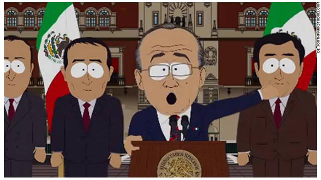 El presidente de México Felipe Calderón «regresa» a «South Park»