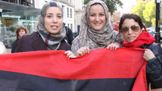 Amira Elgadi, Aida Shebani and Sana Maziq moved to London in recent months to protect their children from the violence in the Libyan capital, Tripoli. All hope to be able to return there in the coming months.