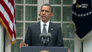 President Obama comments Thursday on the death of Moammar Gadhafi, Libya's longtime leader.