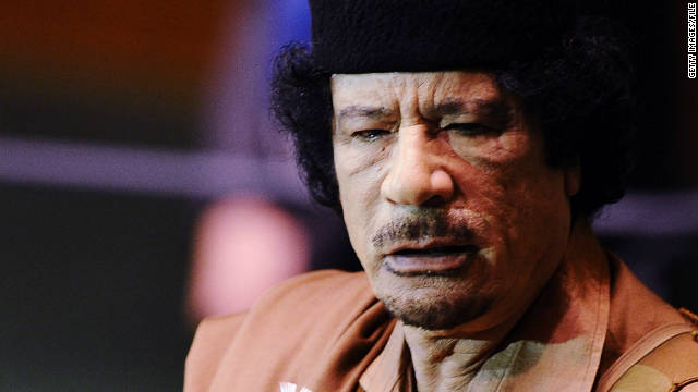 Overheard on CNN.com: Gadhafi images too violent for viewing?
