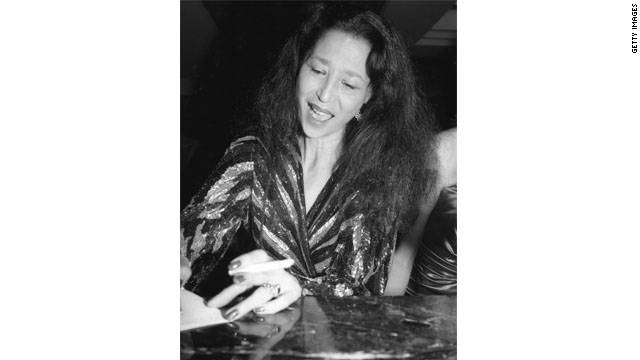 China Machado at the Miguel Cruz Fashion Show at the Plaza Hotel in 1987 in New York City.