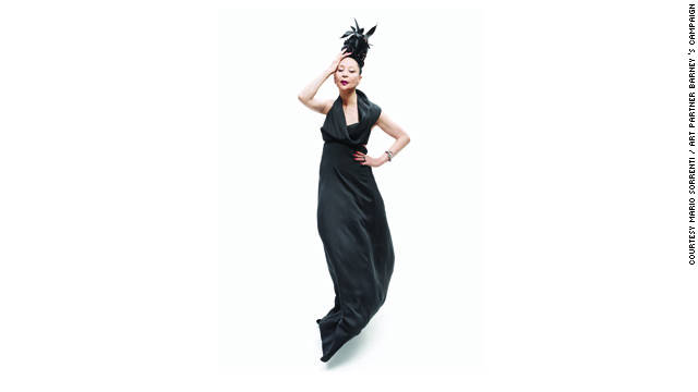 China Machado features in luxury store Barney's Fall 2011 ad campaign, styled by former Vogue Paris editor-in-chief Carine Roitfeld and photographed by Mario Sorrenti.