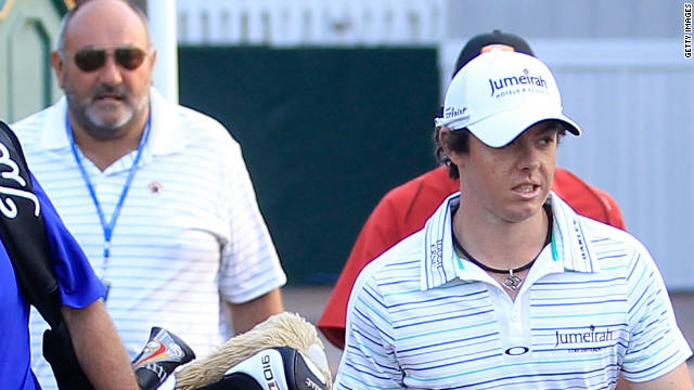Rory McIlroy and former manager Andrew 