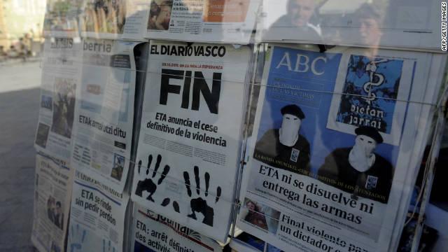 El anuncio de ETA «no es el fin de la historia», dice el ministro del Interior de España