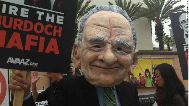 Anti-corporate, anti-Murdoch protesters converge at News Corp. meeting