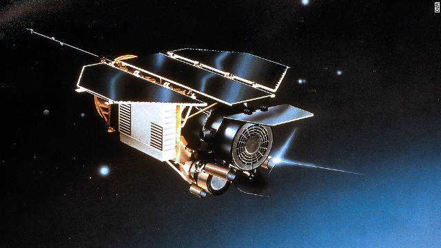 Artist rendition of the ROSAT satellite, which tumbled to earth last weekend.