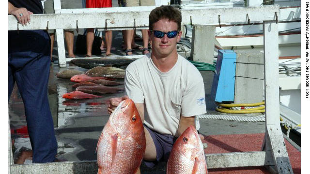 George Thomas Wainwright died from a shark attack while scuba diving off the coast of Western Australia on Saturday.