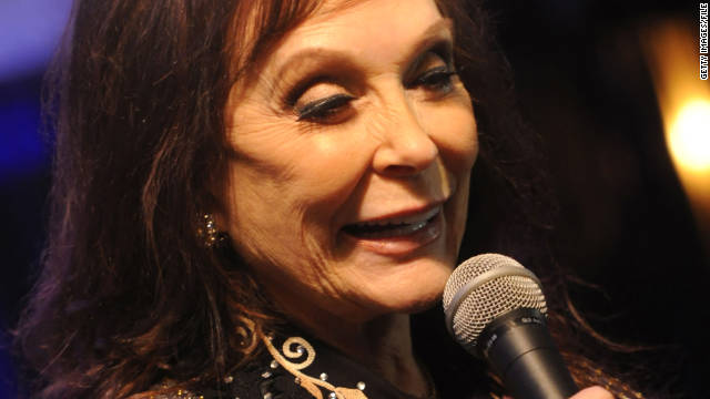Loretta Lynn speaks at the 44th Annual CMA Awards in Nashville, Tennessee, on November 10, 2010.