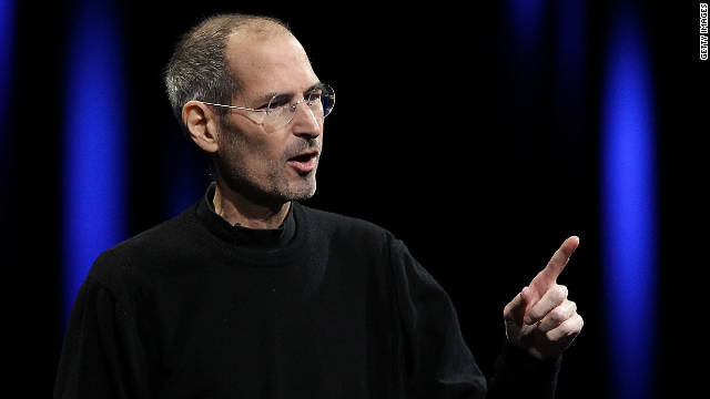 Steve Jobs, seen above in his trademark black turtleneck, died earlier this month.