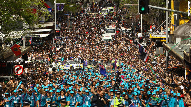 The streets of Auckland were jam packed for Monday's victory parade for the triumphant All Blacks 