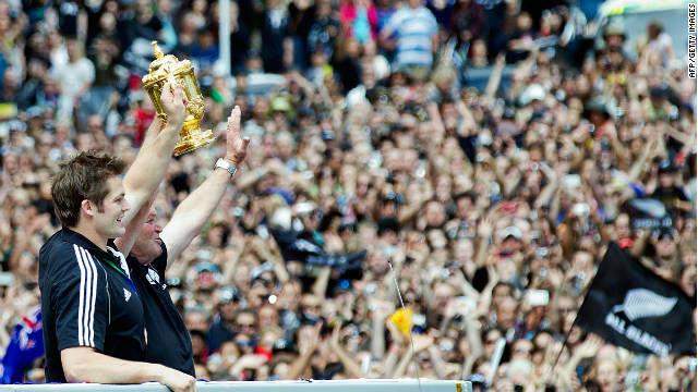 New Zealand celebrates its World Cup triumph