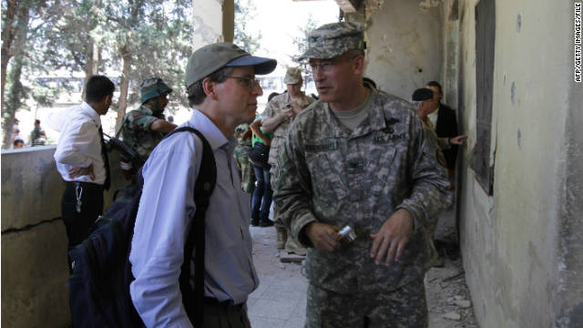 Ambassador Robert Ford, left, has been outspoken against the Syrian government's use of violence against protesters.