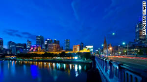 Melbourne at dusk. Or dawn. Travelers won\'t know the difference.