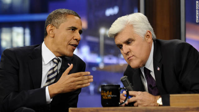 Obama talks politics, life with Leno