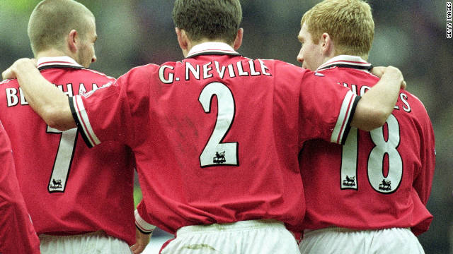 Ferguson also introduced young talent such as David Beckham, Ryan Giggs, Paul Scholes and the Neville brothers Gary and Phil -- who all went on to become integral members of his team.