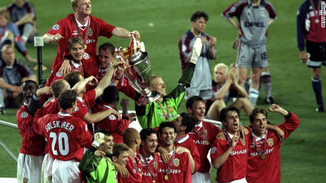 In 1999 Ferguson took his team to the Champions League final in Barcelona, needing victory against Bayern Munich to complete the most remarkable season in British football history. With United 1-0 down and the clock at 90 minutes, substitutes Teddy Sheringham and Ole Gunnar Solskjaer delivered the most dramatic victory imaginable. &quot;Football. Bloody Hell,&quot; Ferguson said afterwards. He was made a Knight -- an order in the British honours system that affords the recipient the title of 'Sir' -- by the Queen, a few months later.