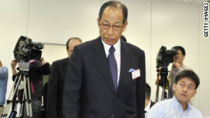 Ex-Olympus Chairman Tsuyoshi Kikukawa, who promoted Woodford to company president in April.
