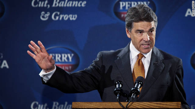 Republican presidential candidate Gov. Rick Perry outlines his flat tax plan Wednesday in Gray Court, South Carolina.