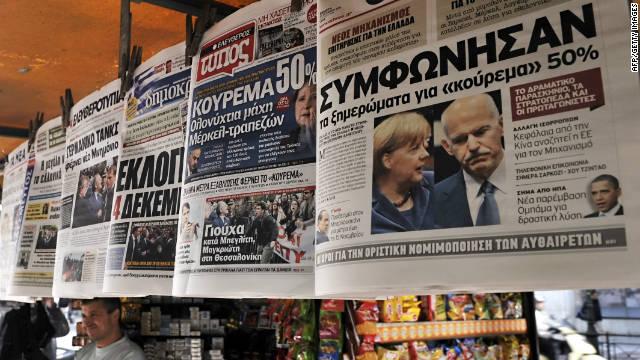 Las bolsas de Europa se desploman tras el anuncio de referéndum en Grecia