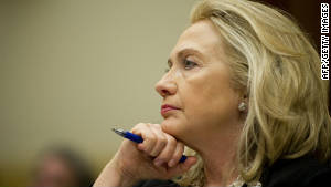 Secretary of State Hillary Clinton testifies before the House Foreign Affairs Committee on Thursday.