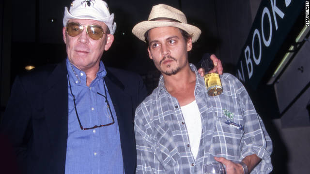 Johnny Depp, with Hunter S. Thompson in 1998, said the famed writer was,