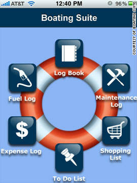 The Boating Suite app helps you to log expenses and keep all your boat's records.