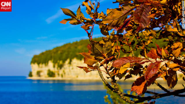 "John McGraw shared this photo of the leaves turning in Fayette State Park in Michigan. ""Every color you can imagine and an endless amount of trees, rivers, wildlife and of course all of the lakes,"" he said of his trip to the park."