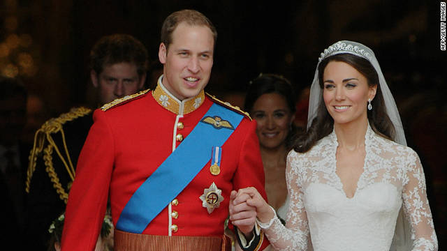 The changes would apply to any future children of the Duke and Duchess of Cambridge, pictured here at their wedding in April.