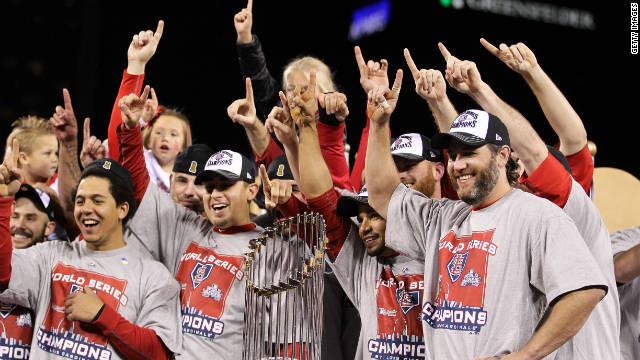 The St. Louis Cardinals win their 11th World Series title in franchise history with a Game 7 win over the Texas Rangers.