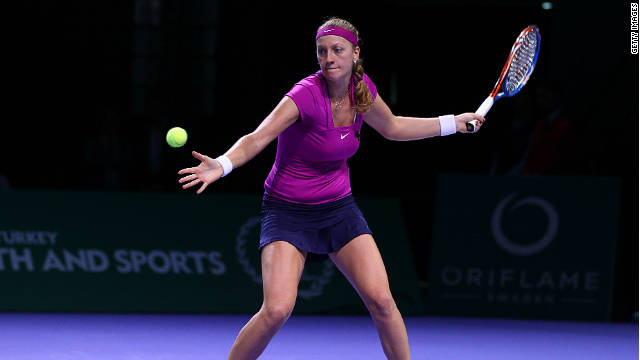 Petra Kvitova's heavy forehand winners proved too much for Australia's Samantha Stosur in Saturday's semifinal.