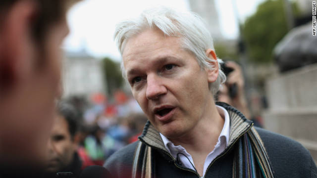 Julian Assange has been holed up inside the Ecuadorian Embassy in London since petitioning for asylum on June 19. (File)