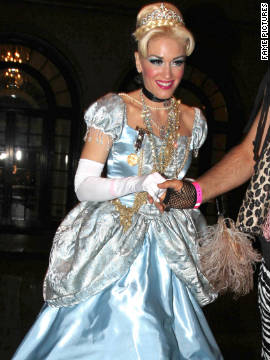 Gwen Stefani attends a Halloween party in Beverly Hills.