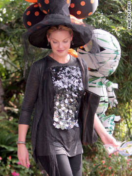 Katherine Heigl attends a friend's Halloween party in Los Angeles.