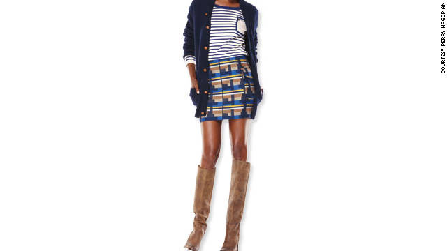 Make sure your skirt is at least an inch longer than your cardi.