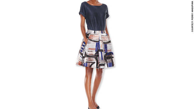 Spotlight (or fake) a tiny midsection by tucking a shirt into a voluminous skirt.