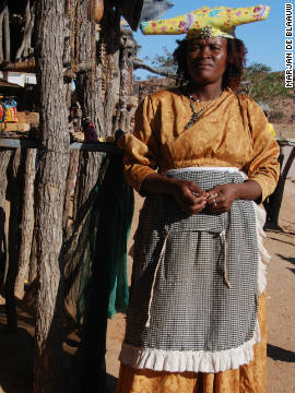 Many Herero women make their own clothing but there is usually a dress-maker within each community.
