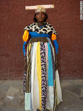 Photographer <a href='http://www.ericlafforgue.com/' target='_blank'>Eric Lafforgue </a>says that the Herero women can be shy about getting their photographs taken and some will refuse.