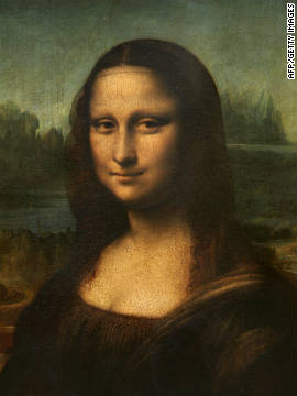 "Da Vinci's world-famous portrait of a woman with an enigmatic smile is thought to be of Lisa Gherardini, wife of a Florentine cloth merchant named Francesco del Giocondo, although even this fact about the mysterious painting remains unclear. Mona Lisa's famous smile is symbolic, according to the Louvre website, which says ""It is a visual representation of the idea of happiness suggested by the word ""gioconda"" in Italian."""