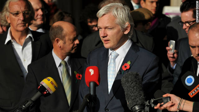 WikiLeaks founder Julian Assange leaving London's High Court on November 2, after losing his legal battle to avoid extradition.