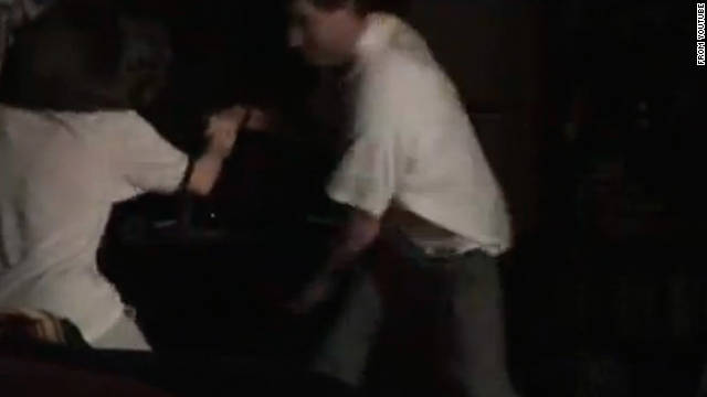 Judge William Adams beats his daughter, Hillary, then a teenager, in a 2004 video.