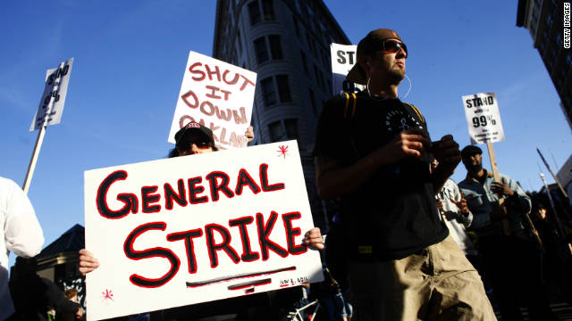 Demonstrators carry out Oakland strike as protests continue