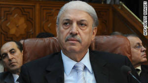 Yussef al-Ahmad, Syria's ambassador to the Arab League, attends a meeting in Cairo on Wednesday.