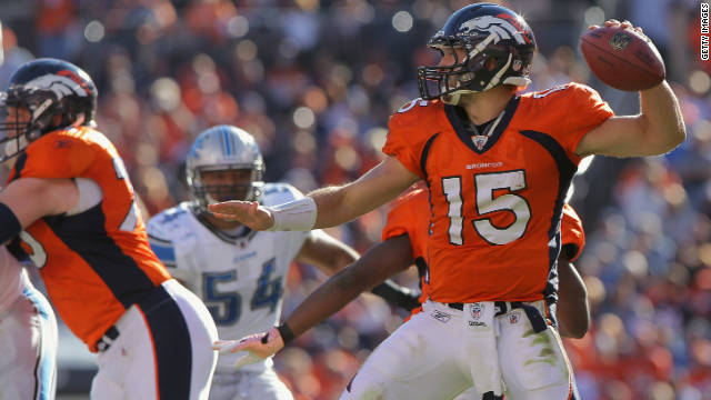 Quarterback Tim Tebow, number 15 of the Denver Broncos, said,