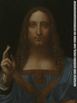"The restoration work to the ""Salvator Mundi"" involed cleaning off layers of varnish and over-paint, repairing a crack in the wood panel and re-touching damaged areas of the painting."