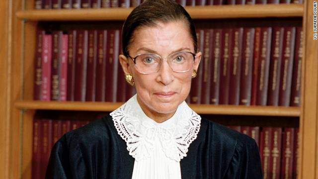 Justice Ruth Bader Ginsburg, 79, is the second woman to serve on the Supreme Court. Appointed by President Bill Clinton in 1993, she is a strong voice in the court's liberal minority.