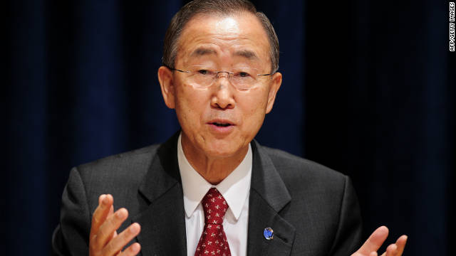 U.N. Secretary-General Ban Ki-moon is on a trip to jump start the Middle East peace process.