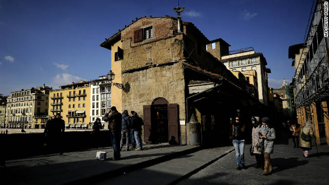 A popular walk for tourists is to take a stroll along the Ponte Vecchio. The oldest crossing in Florence, the original bridge was the only passage across the River Arno in the city until 1218. The current bridge was built in 1345 after the original was swept away by floods. Shops have lined the bridge since the 13th century and it is now a great place to pick up a local trinket or two.